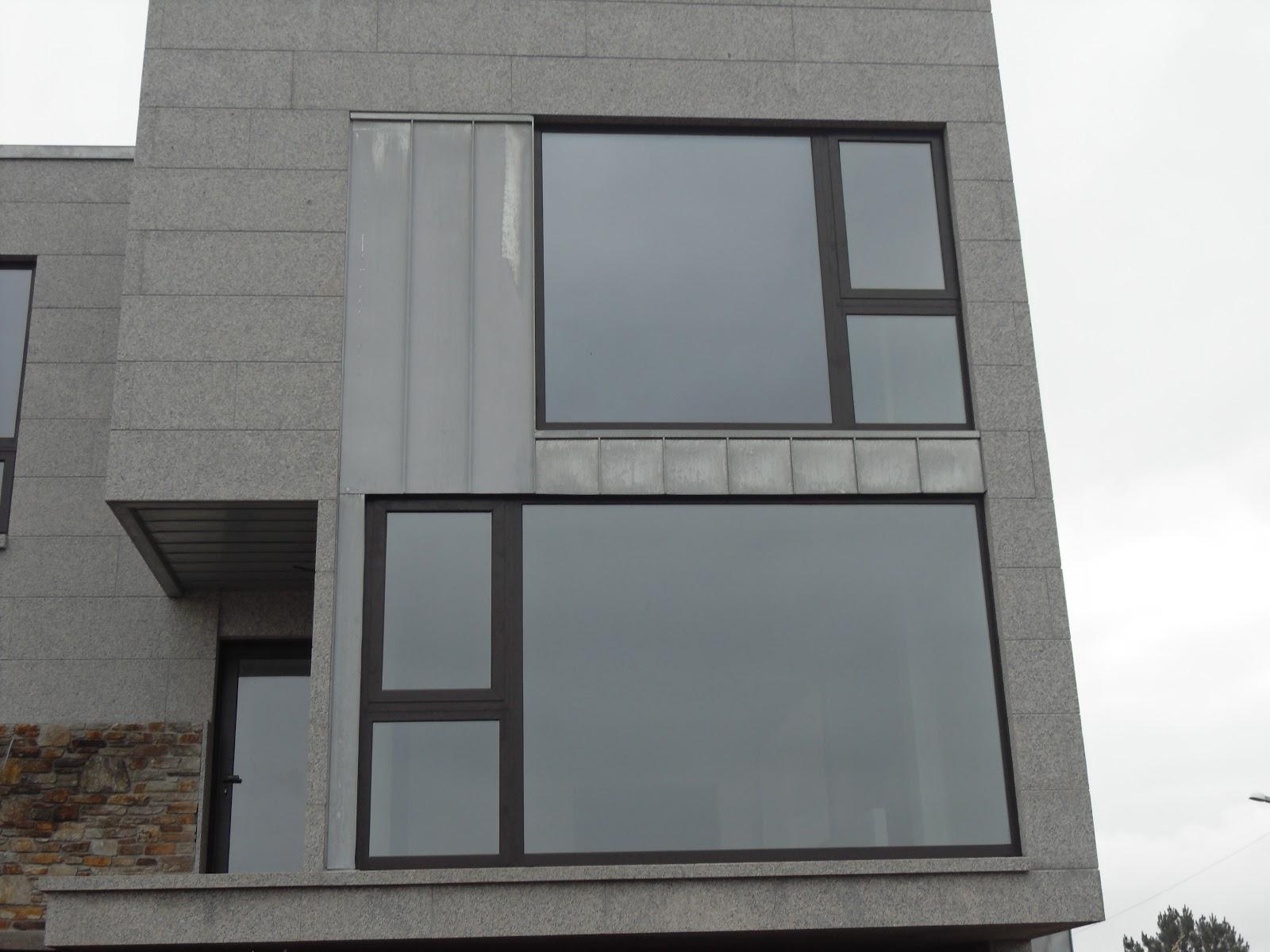 ventanal de diseño zinc titanio